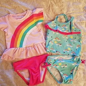 Cat and Jack two piece swimsuits
